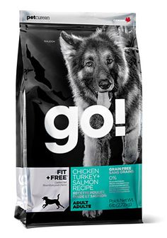 go! dog food package design