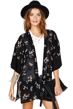 After Party Vintage Tranquil Kimono | Shop Jackets + Coats at Nasty Gal