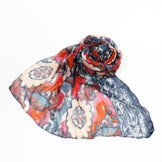 http://www.artfire.com/ext/shop/studio/bohemiantouch/1/1/10311//  Sixty Hippie Floral Vintage Look Print Soft Touch Fashion Shawl Scarf, scarf is a great addition to your collection of fashion accessories. Perfect for all year round.