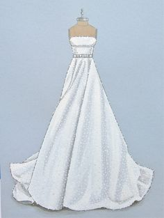 Custom Bridal/Wedding Gown Illustration/ by ForeverYourDress, $150.00 www.foreveryourdress.com