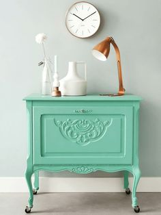 Navy, Mint and Peach Home Decor - brepurposed