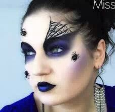 Halloween makeup - spider wed on the eyebrow