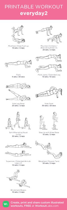 everyday2:my visual workout created at WorkoutLabs.com • Click through to customize and download as a FREE PDF! #customworkout