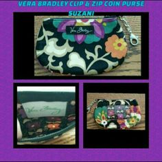 💜 NWOT Vera Bradley Clip & Zip Coin Purse 💜 Brand New Never Used Vera Bradley Clip & Zip Coin Purse In Retired Rare Suzani Pattern. This Is Super Cute And Can Hold Alot. Excellent Condition. Retails For: $22+ S&H + Taxes 🚫 NO TRADES 🚫 NO PAYPAL 🚫 PRICE IS FINAL 🚫 Vera Bradley Bags Wallets