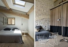 natural, clean, simple ....but do not like those chairs in the second picture.