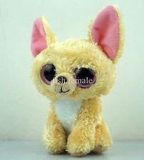 "6"" New Big Eyes TY Beanie Boos Nacho Chihuahua Dog Plush Stuffed Toy Dolls TQ15S"