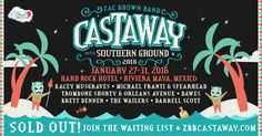 January - A 4-night concert adventure with Zac Brown Band and Friends at the all-inclusive Hard Rock Hotel in Riviera Maya, Mexico!