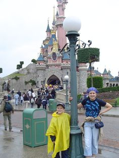 One of the places the family visits in their travels...Disneyland Paris! A fun time was had by all. And just like Carmen and her daughter Emily were stranded inside of the Rock and Rollercoaster, so were Rachel and I. What a memory!