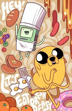 Adventure Time Jake and BMO makin' bacon pancakes! Marceline, Abenteuerzeit Mit Finn Und Jake, Finn Jake, Cartoon Adventure Time, Adventure Time Art, Cartoon Network, Adventure Time Wallpaper, Adveture Time, Land Of Ooo