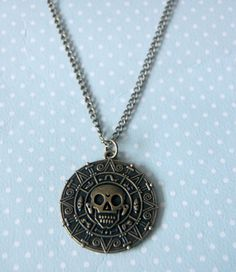 Pirate coin bronze necklace  Pirates of the by otterlydesign, $23.49    Get your share of the Treasure of Cortés with this bronze necklace.