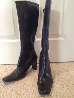 Nine West soft black leather boot in curacao's Garage Sale in Cheyenne , WY for $25.00. size 7, 3 1/2 inch heel