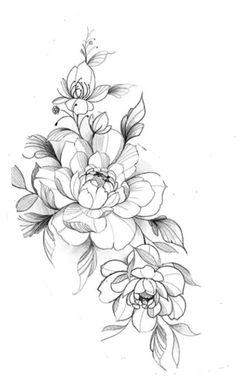 Thigh Tattoo Designs, Flower Tattoo Designs, Flower Tattoos, Tattoo Design Drawings, Dream Tattoos, Cute Tattoos, Beautiful Tattoos, Girl Tattoos, Tatoo Floral