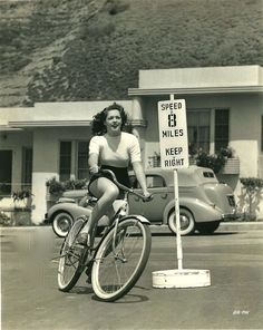 "ridesabike: "" Anne Gwynne rides a bike. """