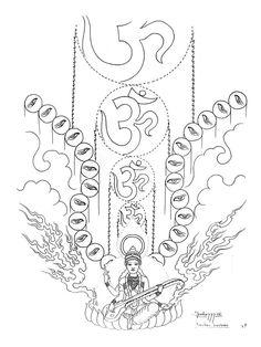 Paradise Tattoo, Gangsta's Paradise, Tibet Art, Oriental Tattoo, Home Tattoo, Design Show, Black House, Tattoo Designs, Concept