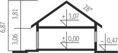 Projekt domu Simon energo plus - koszt budowy 239 tys. Modern Bungalow House, Cottage Style House Plans, Bungalow House Plans, Architectural House Plans, Home Technology, Design Case, Beautiful Homes, Floor Plans, How To Plan