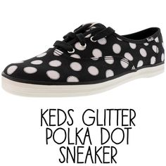 Keds Polka Dot Sneaker Glitter Polka Dot Keds EUC, only worn a handful of times Comes with box Size 6.5 Slightly dirty on bottom of shoe and around white rubber sole  Please submit all offers through 'offer' feature   Trades PayPal   keds Shoes Sneakers