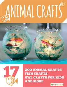 Animal Crafts: 17 Zoo Animal Crafts, Fish Crafts,  Owl Crafts for Kids, and More