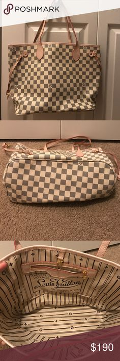 LV Neverfull tote New without tags. Inspired (not authentic) however it is good quality and hard to tell it apart from my authentic bags! I bought this on posh a while ago thinking it was authentic and never used it because I wound up getting an real one. I am up for reasonable offers. NO TRADES. Any questions please ask:) thanks! Bags Totes