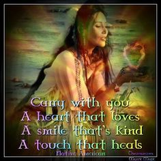 Carry with you...  #nativeamerican