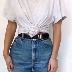 Outfit Videos Outfit video for denim short ideas Clothing hacks videos denim Outfit short video Videos Teen Fashion Outfits, Retro Outfits, Look Fashion, Trendy Outfits, Korean Fashion, Girl Fashion, Girl Outfits, Fashion Mode, Cute Jean Outfits