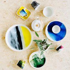 "The Sääpäiväkirja or ""Weather Diary"" dinnerware is a wonderful collection! Marimekko, Dinnerware, Stoneware, Porcelain, Clay, Weather, Ceramics, Tableware, Ethnic Recipes"