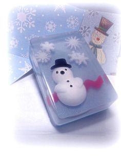 Snowman Soap by Kokolele on Etsy