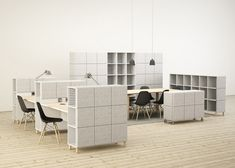 Office furniture brand Glimakra has released a collection of storage units that can also be used to reduce sound and zone areas in open-plan workspaces