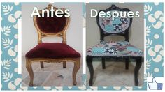 COMO RESTAURAR UNA SILLA VIEJA y (darle un aspecto moderno) Dining Chairs, Graphics, Furniture, Design, Home Decor, Refurbished Chairs, House Decorations, Old Chairs, Recycled House