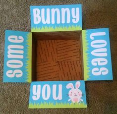 Some bunny loves you easter care package with a white picket care package box kit easter some bunny loves you by bekproductions negle Gallery