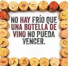 Una botella de vino vence cualquier frío #HumoryVino #VinoEntreAmigos