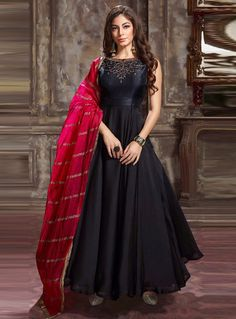 India Emporium is a one stop ethnic wear online store for all your online saree shopping, designer wear, salwar kameez, bridal wear, lehenga cholis & artificial jewellery needs. Choli Dress, Anarkali Dress, Anarkali Suits, Frock Dress, Dress Girl, Indian Attire, Indian Ethnic Wear, Indian Outfits, Indian Clothes