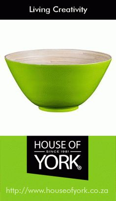 Our beautiful bamboo bowl is available at House of York from Perfect to use to displays your freshly baked muffins or hot cross buns this Easter! House Of York, Baking Muffins, Hot Cross Buns, Green Nature, Freshly Baked, Kitchen Decor, Bamboo, Household, Creativity