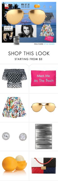 """""""Funky"""" by evelynn-cole ❤ liked on Polyvore featuring Jonathan Simkhai, T-shirt & Jeans, Jeremy Scott, Linda Farrow, M. Gemi, Art Addiction, Eos, Chanel, sunglasses and funky"""