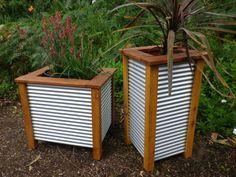 corrugated iron veggie planter box - Google Search