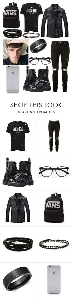 """""""Jesse // 6"""" by davinaespinosa ❤ liked on Polyvore featuring Topshop, AMIRI, Dr. Martens, Vans, Porsche Design, Degs & Sal, Blue Nile, Native Union, men's fashion and menswear"""