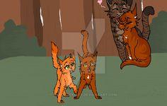 Sparkpaw And Alderpaw :: by FangArtKitty.deviantart.com on @DeviantArt