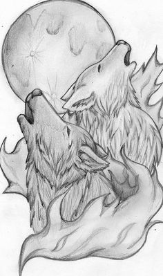 Wolves Tattoo minus the smoke/flames thing