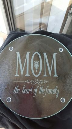 Etched cutting board that I made for Mother's day gift.