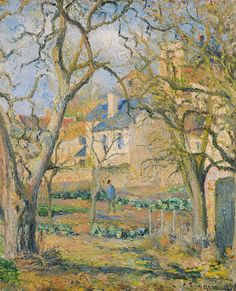 Painting by Camille Pissarro (1830-1903), 1878, Vegetable Garden (日本語: 菜園), oil on canvas.