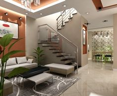 Small House Interior Design, Home Stairs Design, Simple House Design, Home Building Design, Bungalow House Design, House Front Design, Home Room Design, Philippines House Design, House Architecture Styles