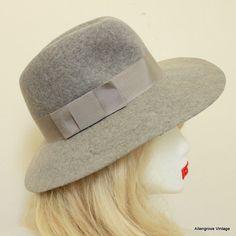 Womens Vintage Hat Wide Brimmed Hat Felt Wool by AllengroveVintage, $21.00