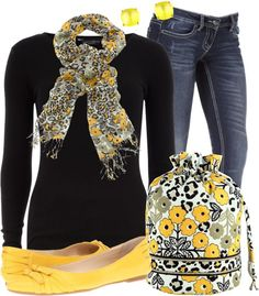 """""""Vera Bradley Scarf & Ditty Bag"""" by stay-at-home-mom ❤ liked on Polyvore"""