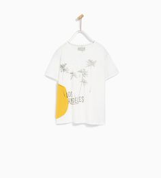 Image 1 of T-SHIRT WITH SIDE PATCH from Zara