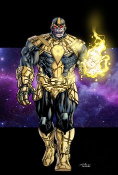 Thanos of Sinestro Corps - Ginmau colors by SpiderGuile.deviantart.com on @DeviantArt