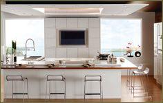 Retro Popular Kitchen Colors Design Style listed in: Contemporary kitchen design elegant Kitchens topic also best Kitchen Design topic Modern French Kitchen, Small Modern Kitchens, Classic Kitchen, Home Kitchens, French Kitchens, Modern Bar, Minimal Kitchen Design, Kitchen Design Open, Contemporary Kitchen Design