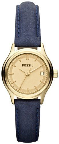 Fossil Archival Mini Leather Watch - Blue Fossil. Save 4 Off!. $120.00. 24mm Case Diameter. Archival Collection. 50 Meters / 165 Feet / 5 ATM Water Resistant. Mineral Crystal. Quartz Movement