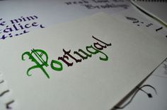 Calligraphy Exercises by Sara de Oliveira, via Behance