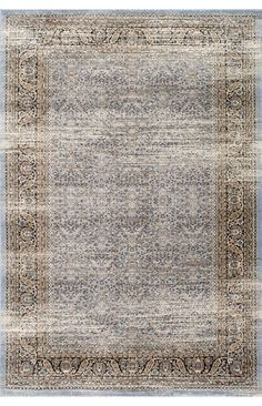 Perfectly vintage with just the right muted colors: ArabellaDecorative Border MM01 Rug