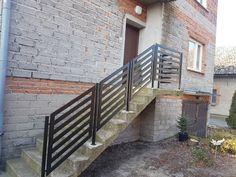 Balustrada na schody wejściowe. Malowane proszkowo RAL9005 mat