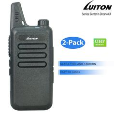 LUITON LT-316 Uhf 3 watt MINI-handheld Two Way Radio (Pair) (Black) -- Visit the image link more details.
